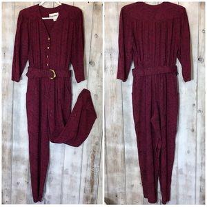 Vintage 1980's Dressy Jumpsuit Size 8